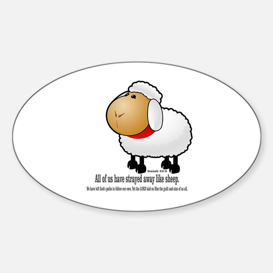 We all are like sheep Sticker (Oval)
