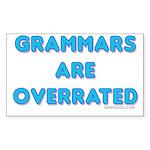 grammars are overrated Rectangle Sticker