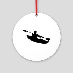 Kayak Ornament (Round)