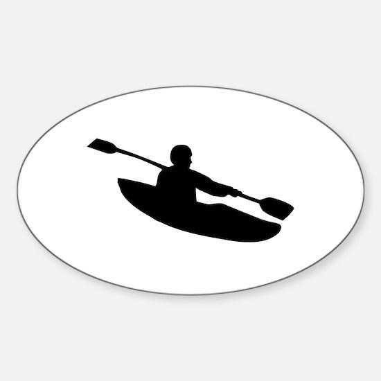 Kayak Sticker (Oval)