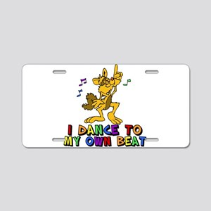 Dancing Cat Aluminum License Plate