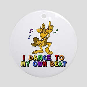 Dancing Cat Ornament (Round)