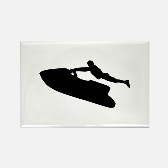 Jet ski Rectangle Magnet