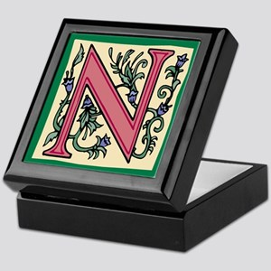 "Garden ""N"" in Mauve Keepsake Box"