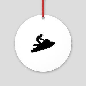 Jet ski Ornament (Round)