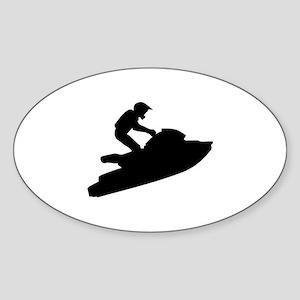 Jet ski Sticker (Oval)