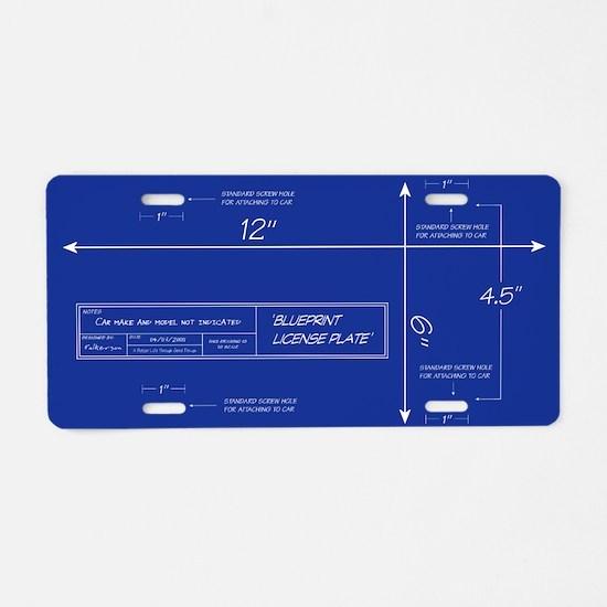 Blueprint Aluminum License Plate