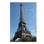 Eiffel tower Paris Postcards (Package of 8)