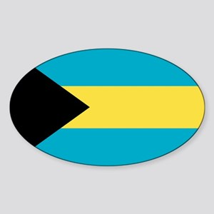 Bahamian Flag Sticker (Oval)