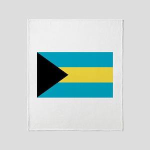 Bahamian Flag Throw Blanket