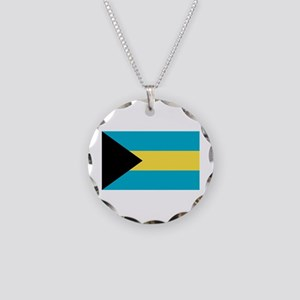 Bahamian Flag Necklace Circle Charm