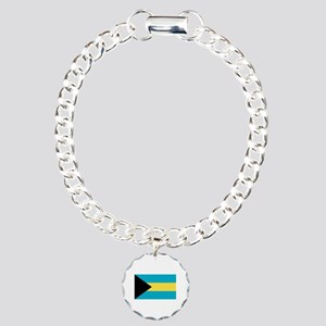 Bahamian Flag Charm Bracelet, One Charm
