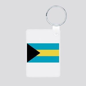 Bahamian Flag Aluminum Photo Keychain