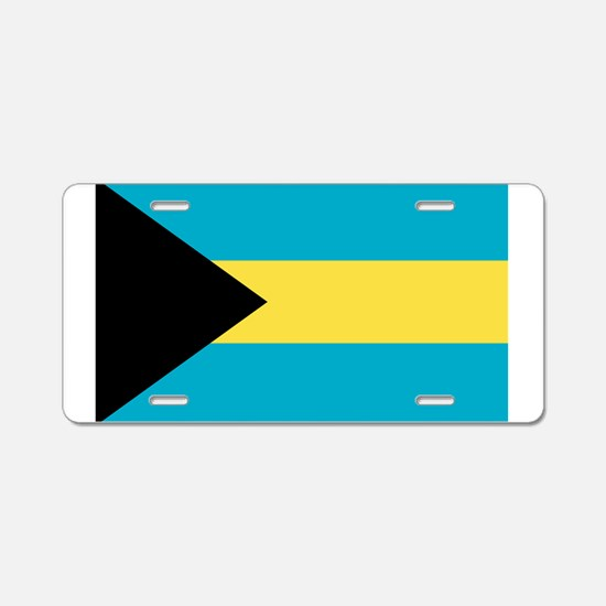 Bahamian Flag Aluminum License Plate