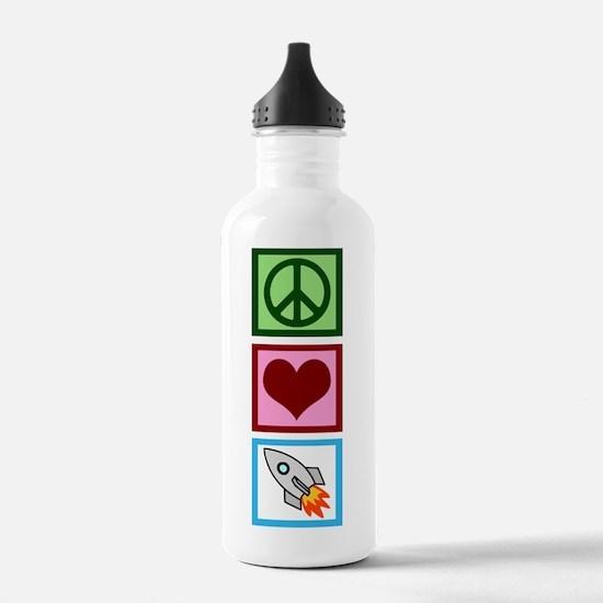 Peace Love Rockets Water Bottle