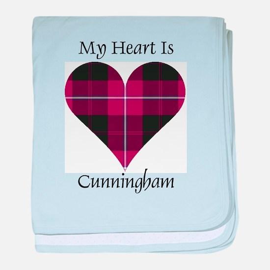 Heart - Cunningham baby blanket