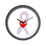 Orchid Hope Heart Wall Clock