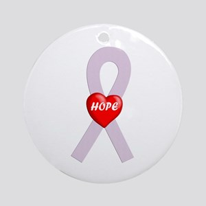 Orchid Hope Heart Ornament (Round)
