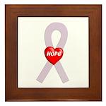 Orchid Hope Heart Framed Tile