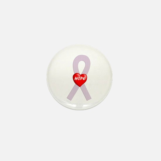 Orchid Hope Heart Mini Button
