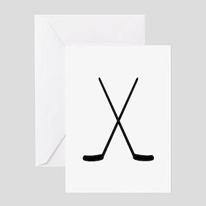 Hockey sticks Greeting Card