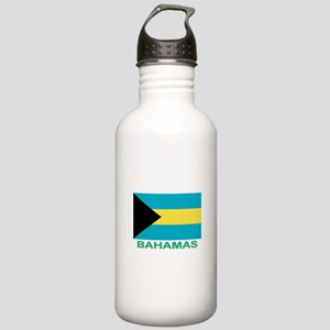Bahamian Flag (labeled) Stainless Water Bottle 1.0