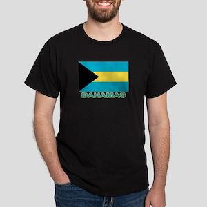 Bahamian Flag (labeled) Dark T-Shirt