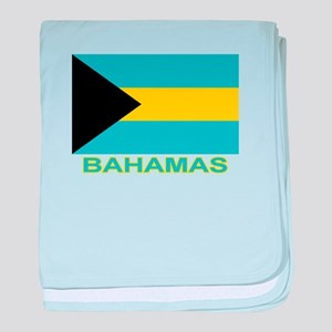 Bahamian Flag (labeled) baby blanket
