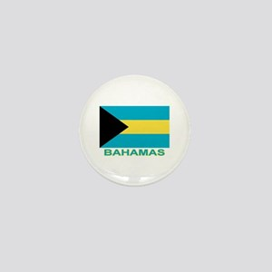 Bahamian Flag (labeled) Mini Button