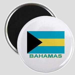 Bahamian Flag (labeled) Magnet