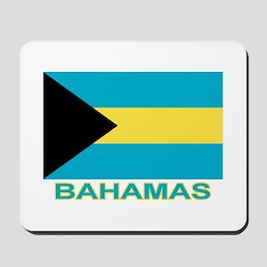 Bahamian Flag (labeled) Mousepad