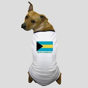 Bahamian Flag (labeled) Dog T-Shirt