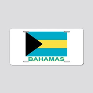 Bahamian Flag (labeled) Aluminum License Plate