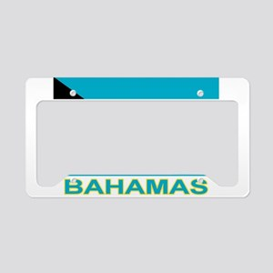 Bahamian Flag (labeled) License Plate Holder