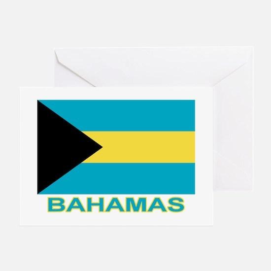 Bahamian Flag (labeled) Greeting Card
