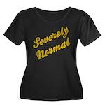Severely Normal Women's Plus Size Scoop Neck Dark