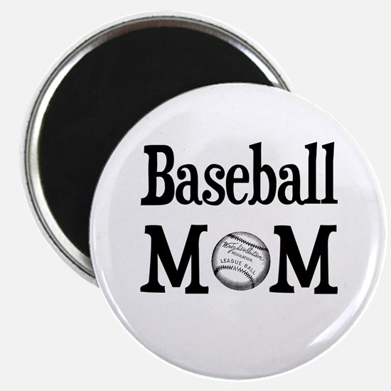 """Baseball Mom"" Magnet"