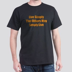 Live Simply Black T-Shirt
