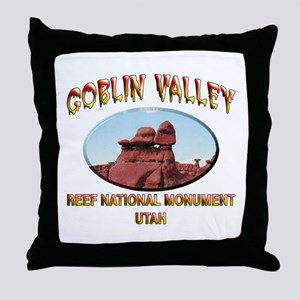 Goblin Valley Utah Throw Pillow