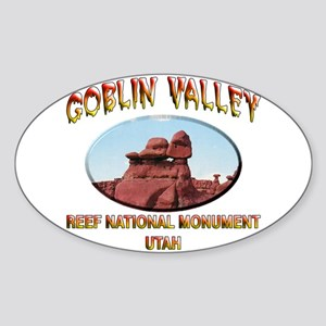 Goblin Valley Utah Sticker (Oval)