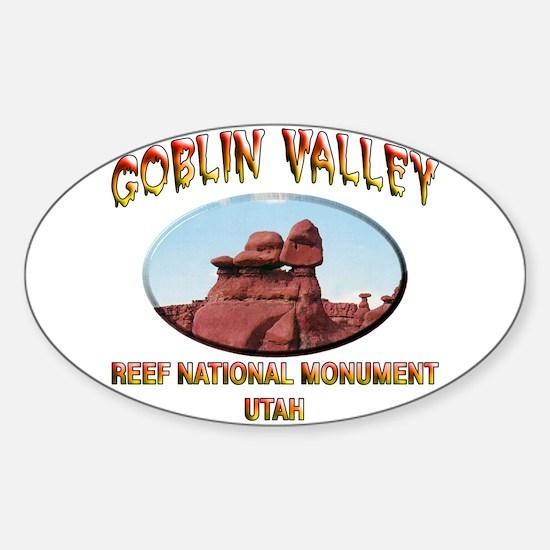 Goblin Valley Utah Sticker (Oval)