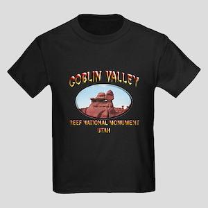 Goblin Valley Utah Kids Dark T-Shirt