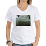 back to the sea Women's V-Neck T-Shirt