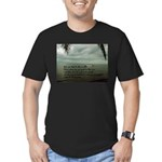 back to the sea Men's Fitted T-Shirt (dark)