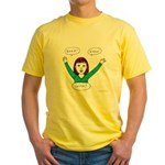 Girls know: READ.KNOW.GROW. Yellow T-Shirt