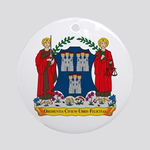 Dublin Coat of Arms Ornament (Round)
