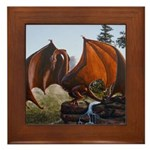 Summer Dragon Framed Tile
