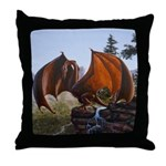 Summer Dragon Throw Pillow