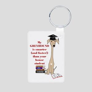 Greyhound Honor Student Aluminum Photo Keychain
