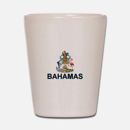 Bahamian Arms (labeled) Shot Glass